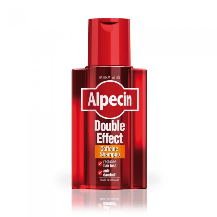 ALPECIN dvejopo poveikio šampūnas su kofeinu nuo pleiskanų ir plaukų slinkimo, 200 ml