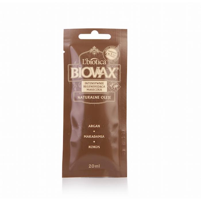 BIOVAX  intensyvaus poveikio kaukė arganų, makadamijų ir kokosų aliejais, 20 ml