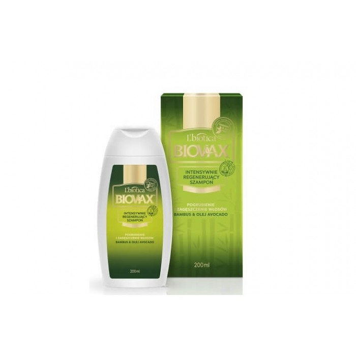 BIOVAX atkuriamasis šampūnas su bambukų ekstraktu ir avokadų aliejumi 200 ml