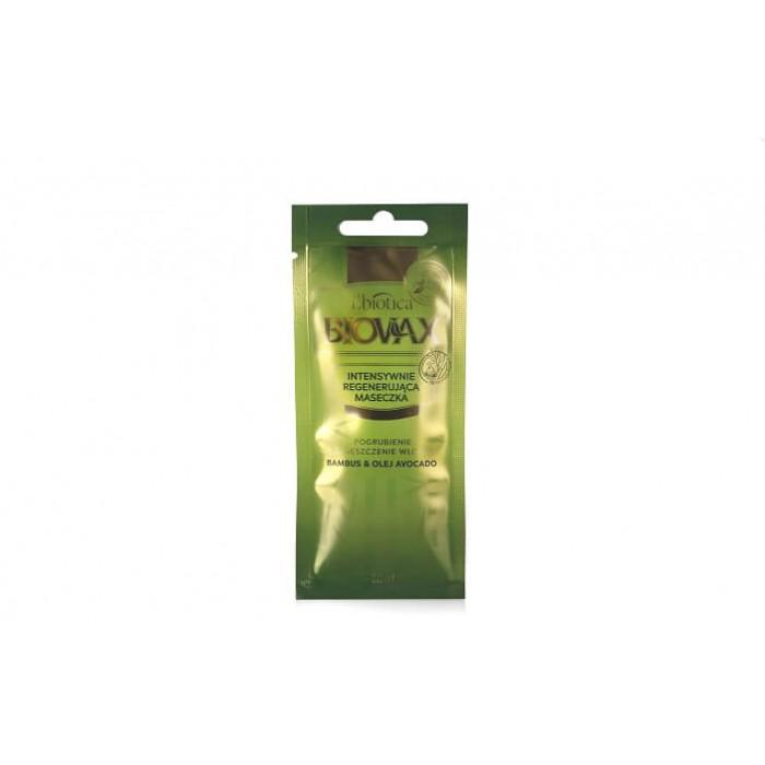 BIOVAX atkuriamoji kaukė  su bambukų ekstraktu ir avokadų aliejumi 20 ml