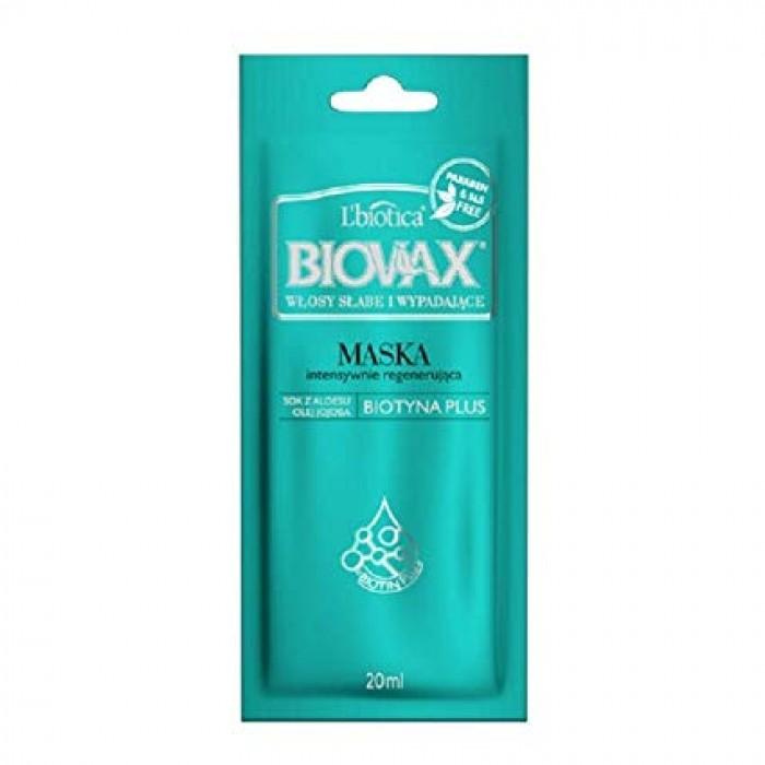 BIOVAX atkuriamoji kaukė silpniems, linkusiems slinkti plaukams 20 ml