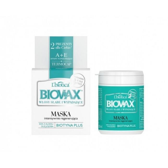 BIOVAX atkuriamoji kaukė silpniems, linkusiems slinkti plaukams 250 ml