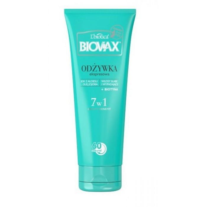 BIOVAX  BB 60 sek. kondicionierius silpniems, linkusiems slinkti plaukams, 200 ml