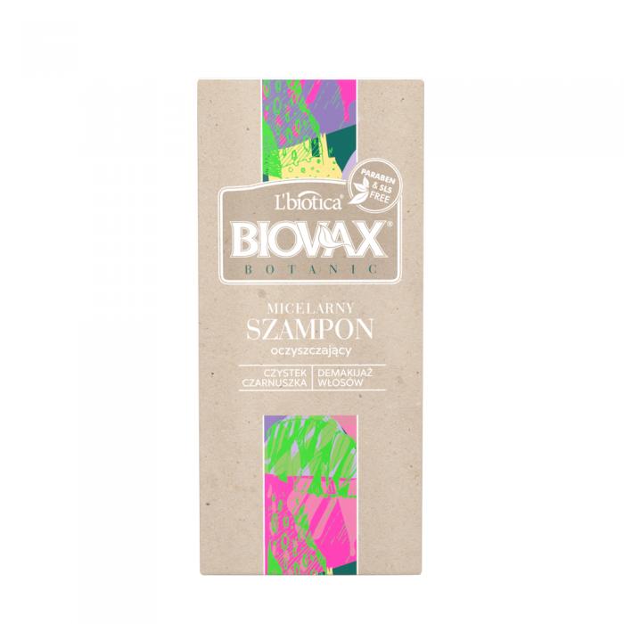BIOVAX BOTANIC micelinis valomasis šampūnas, 200ml