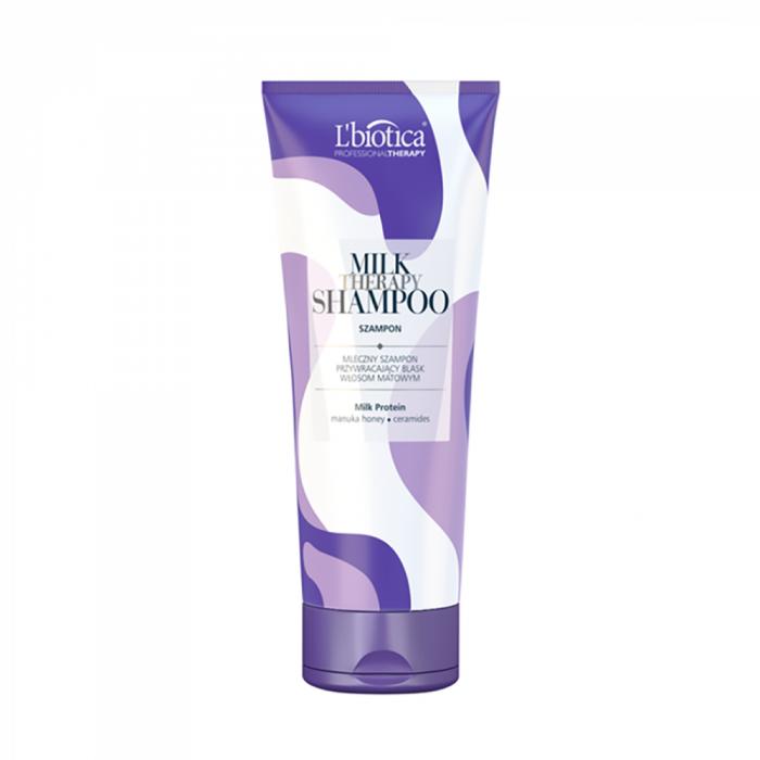 L'BIOTICA šampūnas su pieno baltymais MILK THERAPY, 250 ml