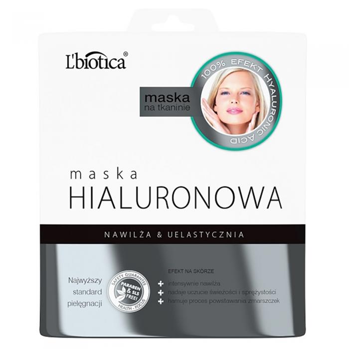 L'BIOTICA lakštinė veido kaukė su hialuronu, 23 ml