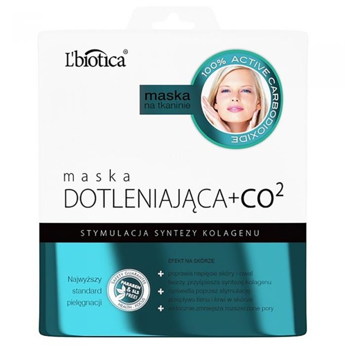 L'BIOTICA kolageno sintezę skatinanti lakštinė veido kaukė su CO₂, 23 ml