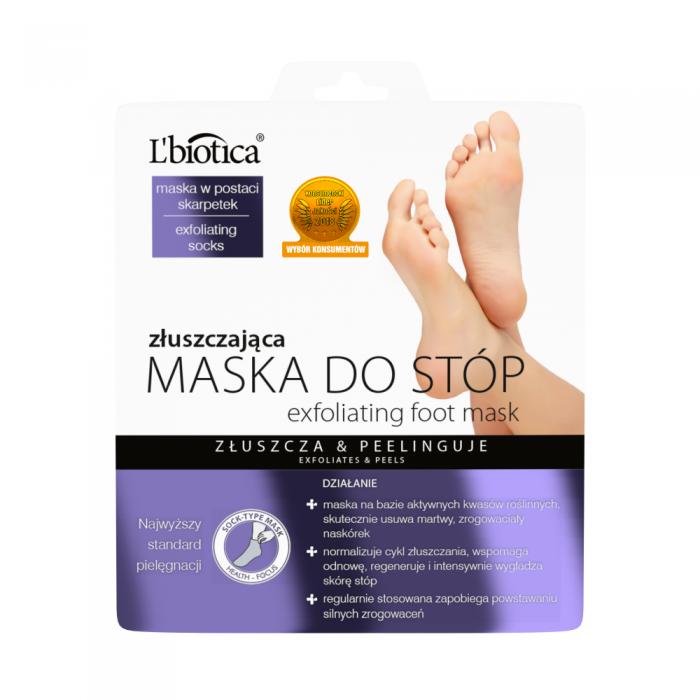 L'BIOTICA šveičiamoji rūgštinė pėdų kaukė-kojinės (1 pora)