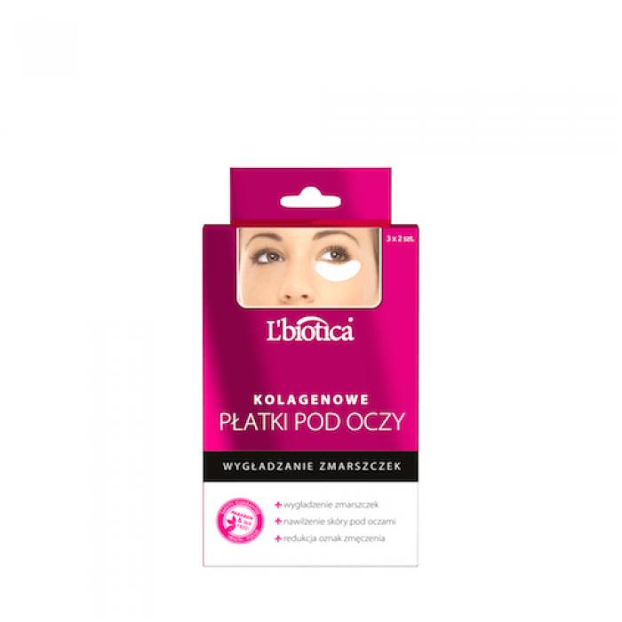 L'BIOTICA hidrogelio-kolageno lapeliai-kaukė paakiams. Mažina raukšles (3x2 vnt)