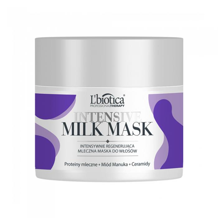 L'BIOTICA intensyviai veikianti plaukų kaukė su pieno baltymais MILK THERAPY, 200 ml