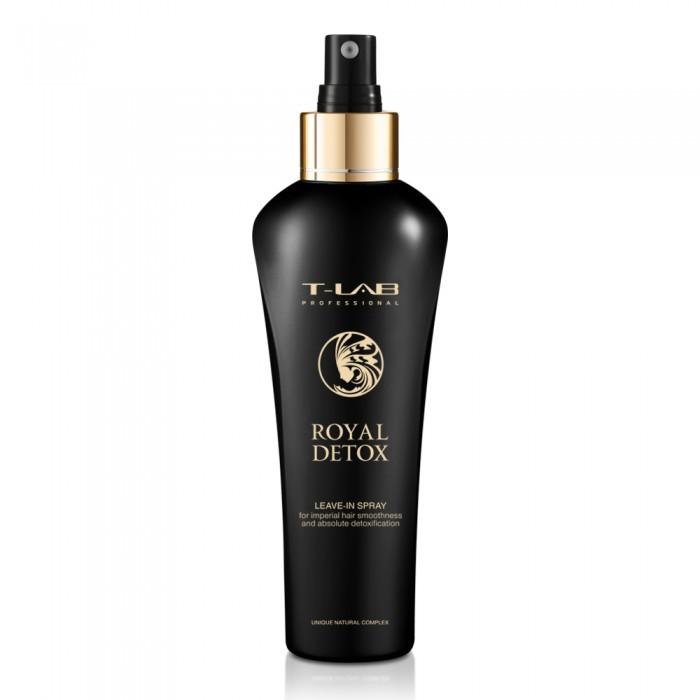 T-LAB professional ROYAL detoksikuojantis nenuplaunamas purškiklis plaukų glotnumui ir absoliučiai detoksikacijai, 130 ml