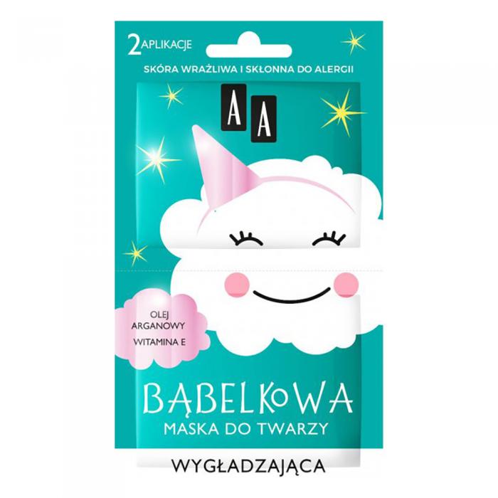AA CLOUD BUBBLE glotninamoji burbulinė veido kaukė, 2x4 ml