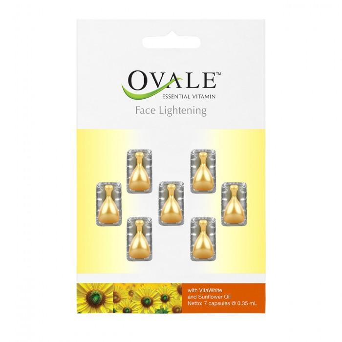 OVALE FACE LIGHTENING tepamieji vitaminai veidui, 7 kapsulės