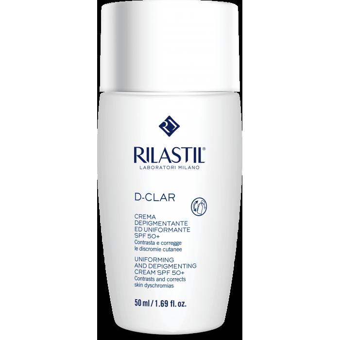 RILASTIL D-CLAR atspalvį vienodinantis ir pigmentaciją mažinantis kremas su SPF 50+, 50 ml