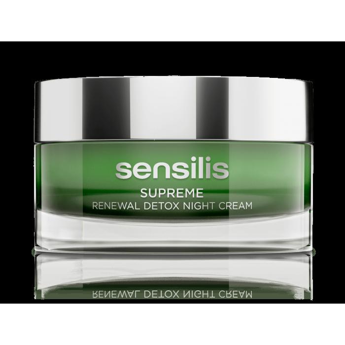 SENSILIS atkuriamasis detoksikuojamasis naktinis kremas SUPREME RENEWAL DETOX, 50 ml