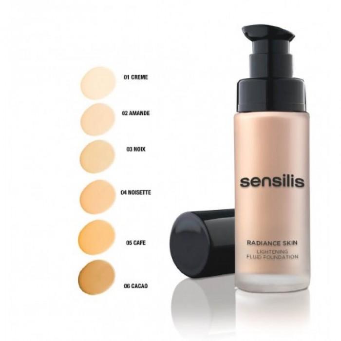 SENSILIS skaistinamasis makiažo pagrindas su SPF 15 RADIANCE SKIN, 03 NOIX, 30 ml
