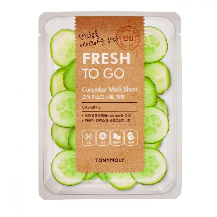Fresh To Go Cucumber Mask Sheet Lakštinė veido kaukė su agurkais, 22 g.
