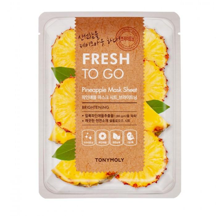 Fresh To Go Pineapple Mask Sheet Lakštinė veido kaukė su ananasu, 22 g.