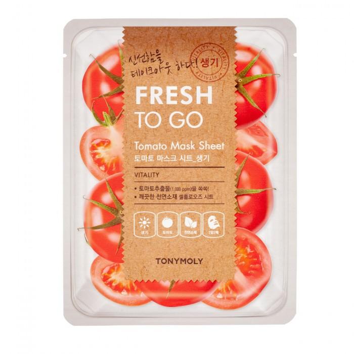 Fresh To Go Tomato Mask Sheet Lakštinė veido kaukė su pomidorais, 22 g.