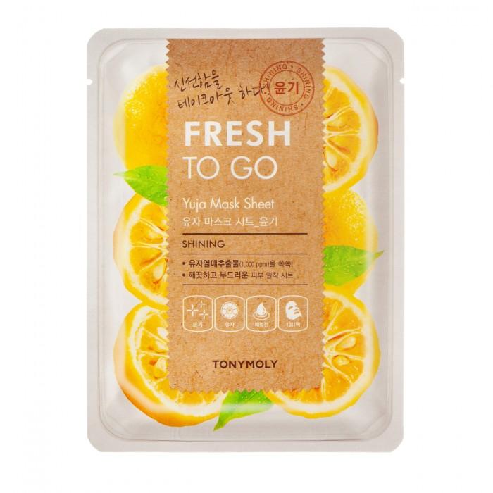 Fresh To Go Yuja Mask Sheet Lakštinė veido kaukė su citrinmedžio vaisiais, 22 g.