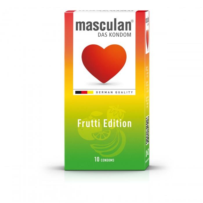 MASCULAN vaisių kvapo prezervatyvai FRUTTI EDITION, 10 vnt.